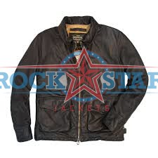 169fda8b58d USA Division Commander s Cockpit Leather Tanker Jacket- RockStar Jackets