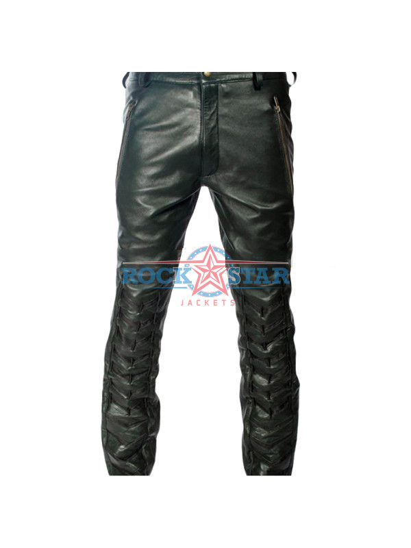 ca17836a4a4 Arrow S2 Stephen Amell (Oliver Queen) Black Leather Pants