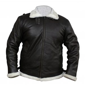 B3 White Fur Inside Winter Faux Leather Jacket