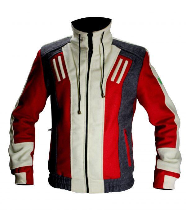 DC Superheroes Beast Boy Biker Wool Jacket