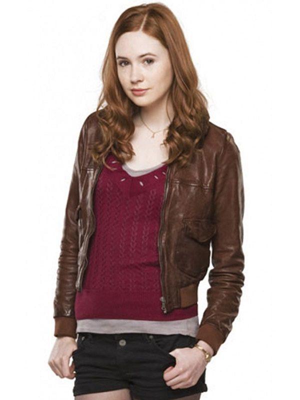 Karen-Gillan-Dr-Who-Series-Leather-Jacket