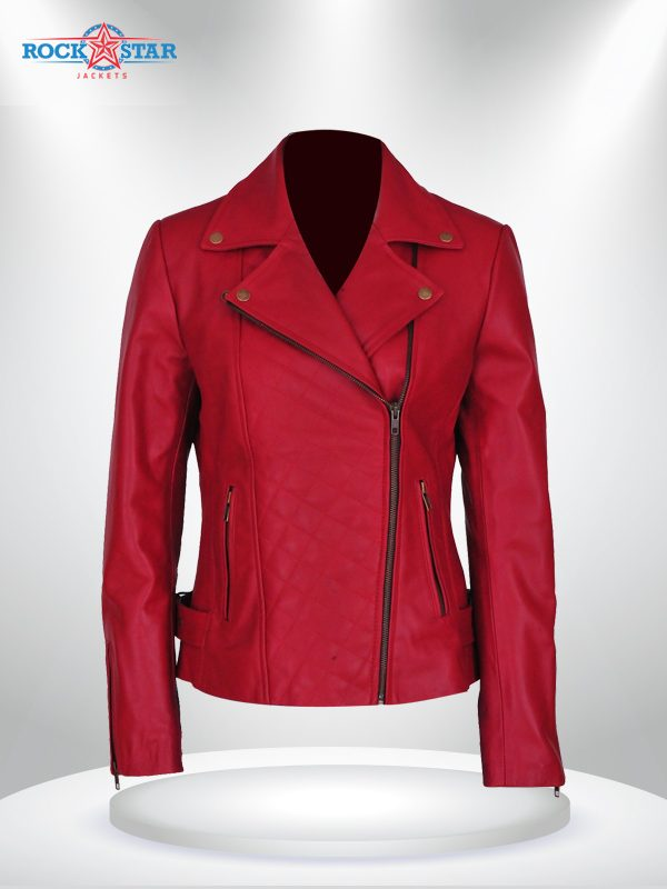Lily Collins Spiderman 2 Leather Jacket