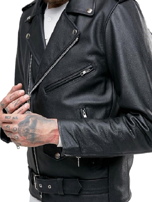 choose clearance select for best best selection of San Jose Brando Bull Logo Leather Jacket
