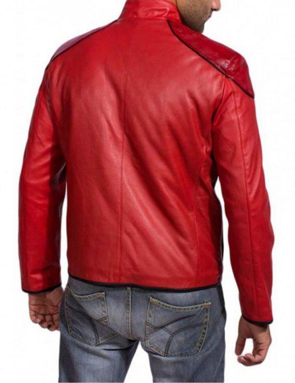Zachary Levi Shazam Red Red Jacket