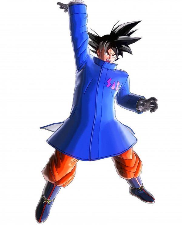 goku blue sab coat jacket