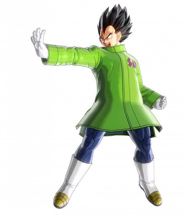 vegeta broly movie green sab coat