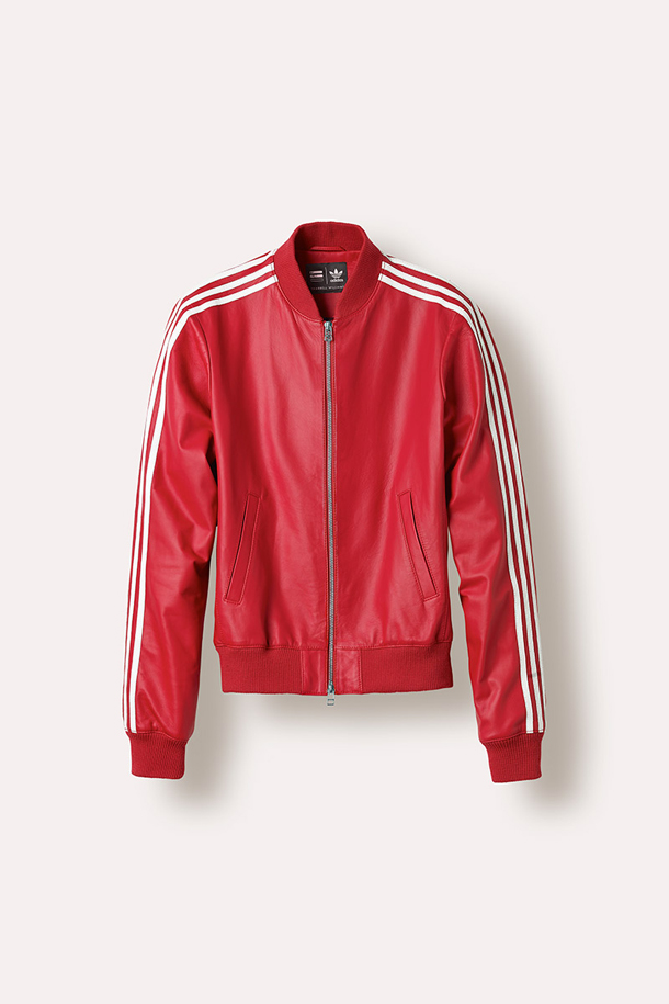 Adidas Pharrell X Jacket Williams Stripes In Leather Sleeves White Red n8k0wPNXO