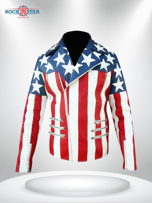 American Flag White Breasted Jacket
