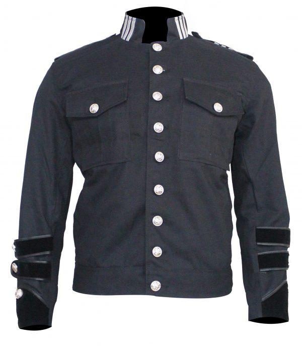 Black Bule Button Police Honor Gaurd Jacket