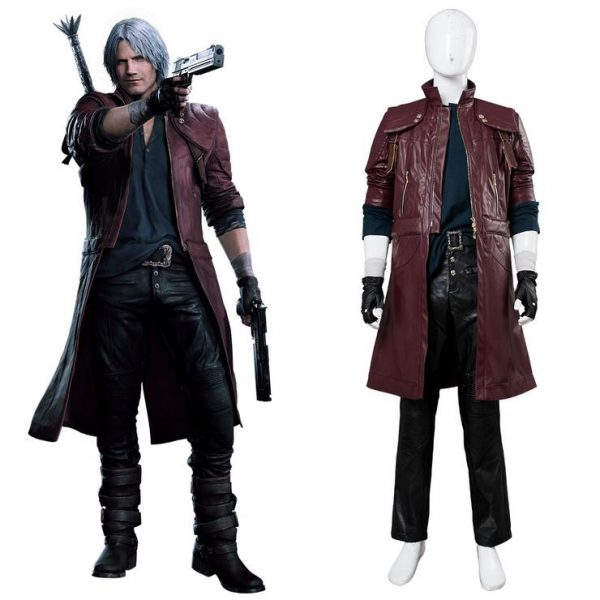 Devil May Cry Dante Aged Leather Coat