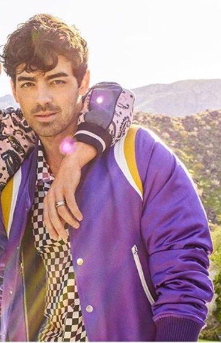 Joe Jonas Jonas Brothers Happiness Begins Tour Purple Satin Jacket