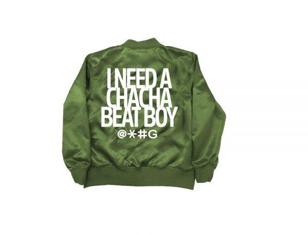 Olive Green Cha Cha Beat Boy Bomber Jacket