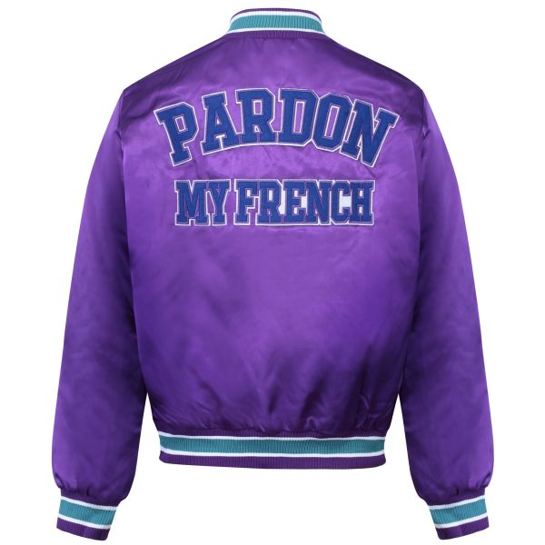 Pardon My French Members Only 75 Satin Bomber Jacket