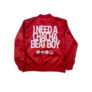 Red Cha Cha Beat Boy Bomber Jacket