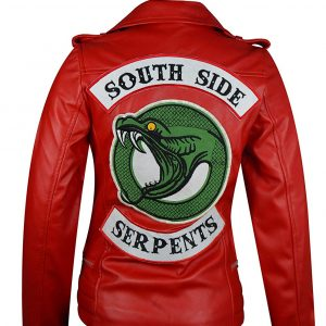 Riverdale South Side red Biker Leather Jackeit