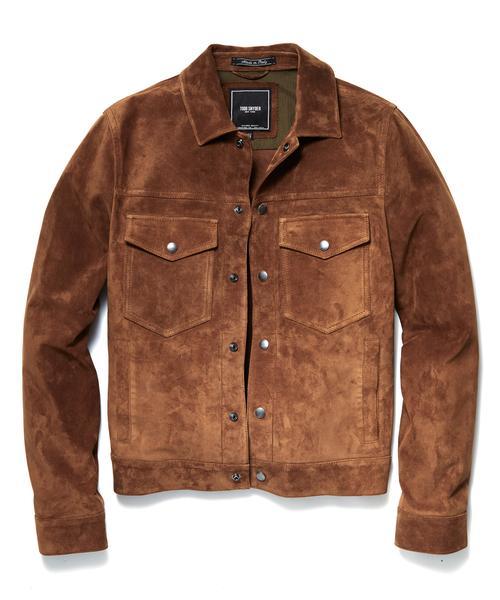 Snap Dylan Italian Suede Jacket