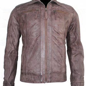 Steve McQueen Chocolate Brown Leather Jacket