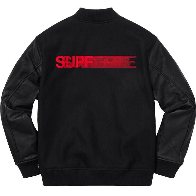 Supreme Motion Logo Varsity Jacket - RockStar Jacket