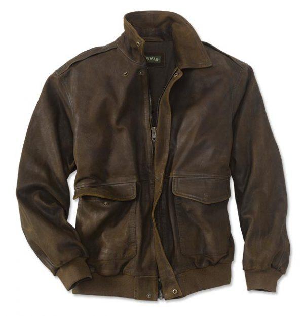 Thunder Bird Flight Leather Jacket