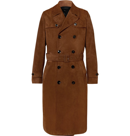 Tom Ford Suede Trench Coat