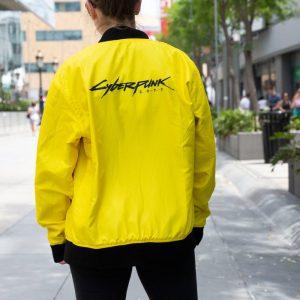 Yellow E3 2019 Cyberpunk 2077 Samurai Yellow Reversible Jacket RockstarJackets
