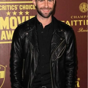 Adam Noah Levine Black Leather Jacket