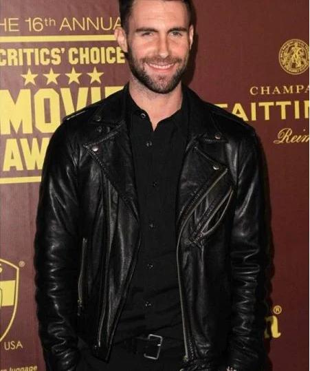 Adam Noah Levine Black Leather Jacket