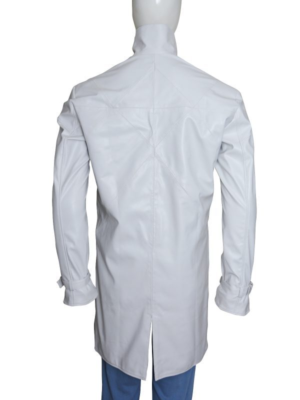 Aiden Pearce Watch Dogs White Leather Coat back side
