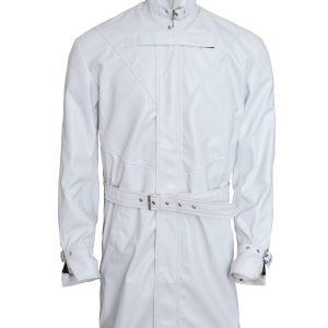Aiden Pearce Watch Dogs White Leather Coat front