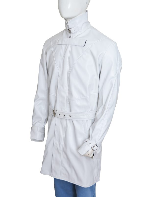 Aiden Pearce Watch Dogs White Leather Coat side