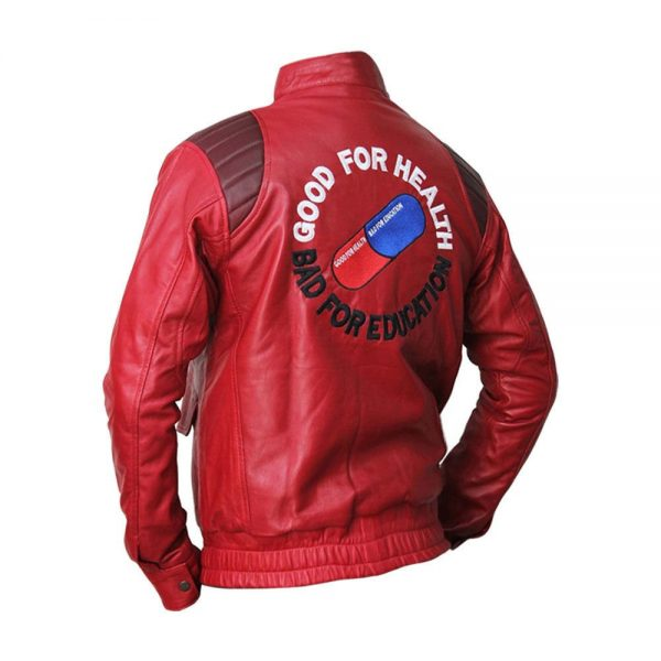 Akira Kaneda Classic Fashion Capsule Logo Red Leather Jacket