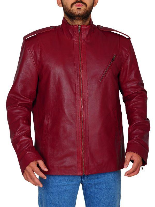 Ash Vs Evil Dead Ash Williams Maroon Jacket front look