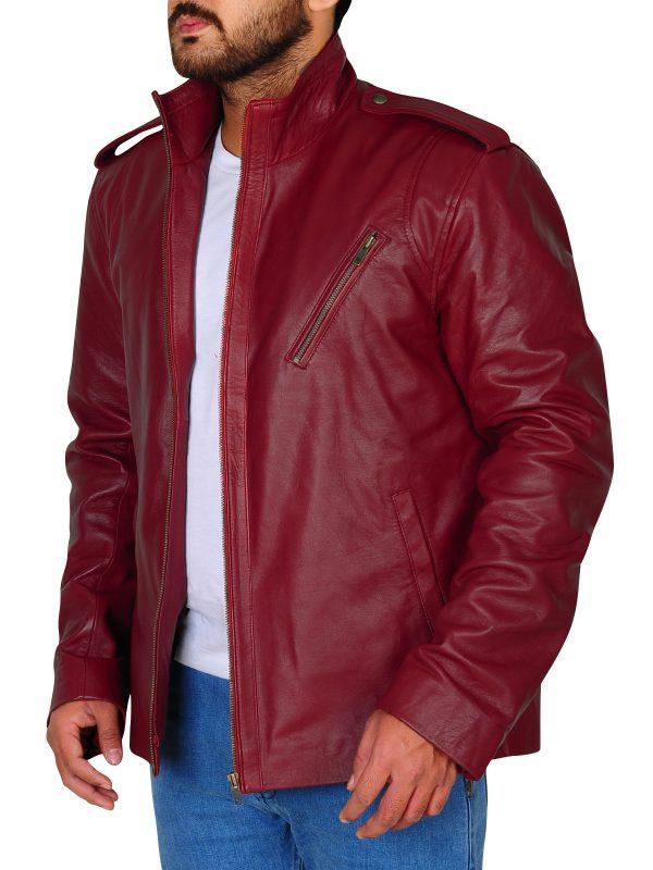 Ash Vs Evil Dead Ash Williams Maroon Jacket side look