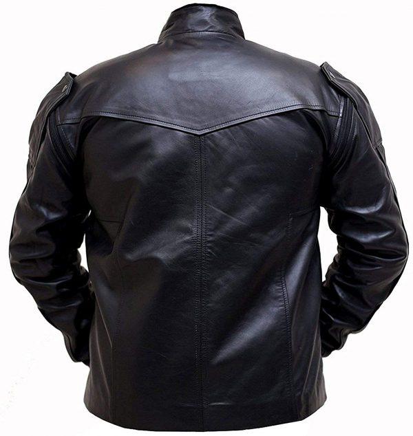 Avengers Infinity War Sebastian Stan Bucky Barnes Leather Jacket back look