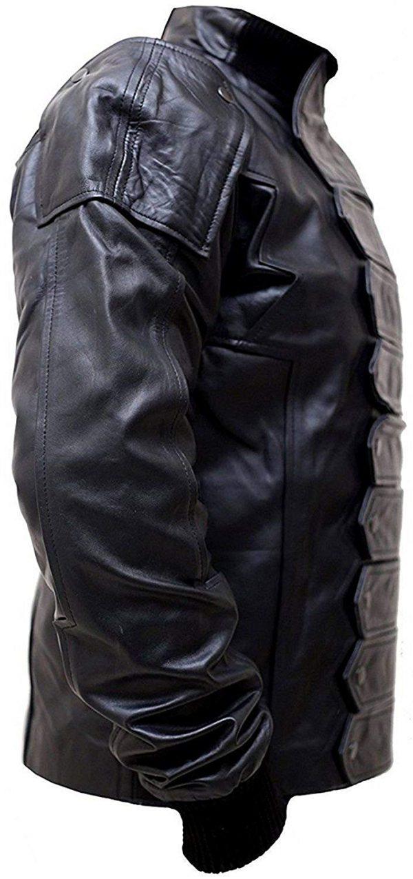 Avengers Infinity War Sebastian Stan Bucky Barnes Leather Jacket side look