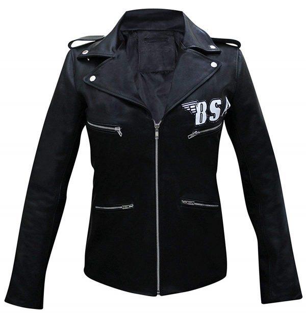 BSA Faith George Michael Rockers Revenge Faux Jacket front look