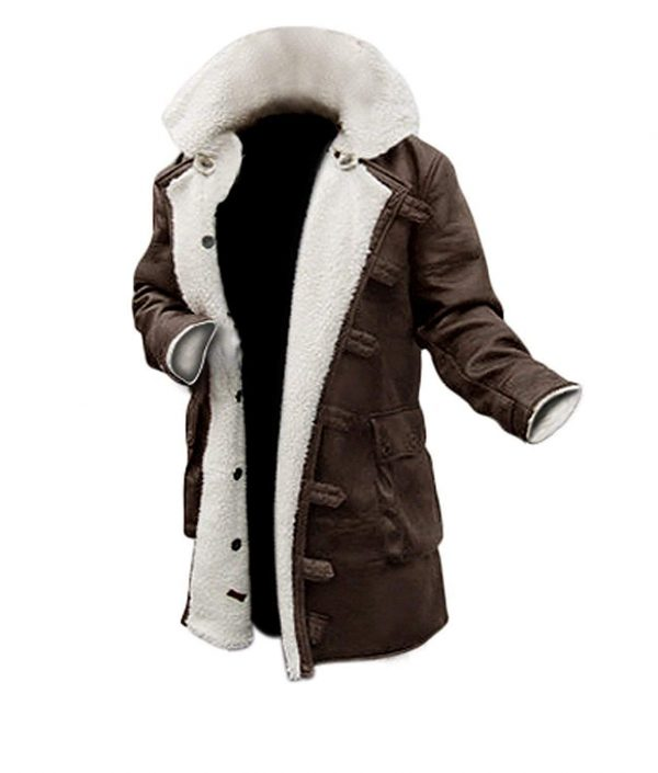 Bane-Dark-Knight-Hardy-Synthetic-Brown-Leather-Fur-Rises-Coat