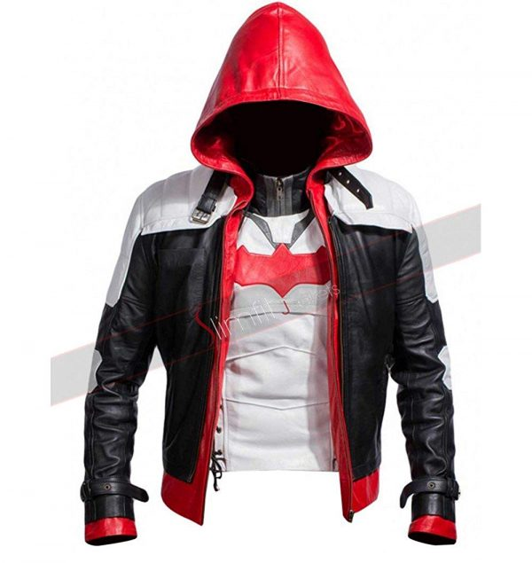Batman Arkham Knight Red Hood Synthetic Leather Jacket
