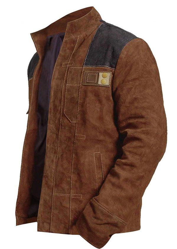 Brown Slimfit Wars Suede Leather Jacket