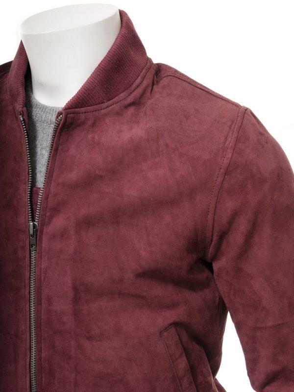 Burgundy Bradstone Suede Jacket
