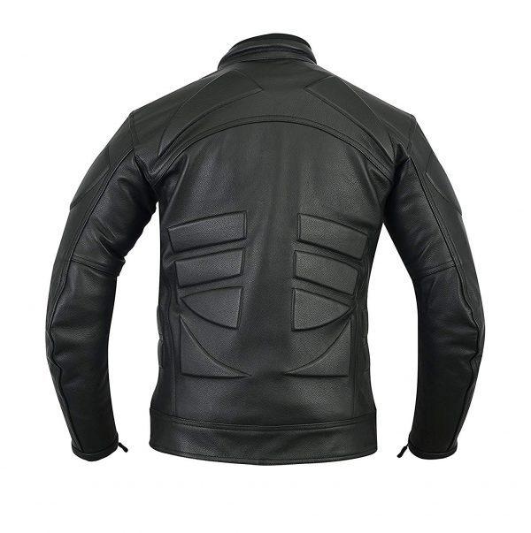 Cafe Racer Vintage Armor Power Sports Leather Jacket back side