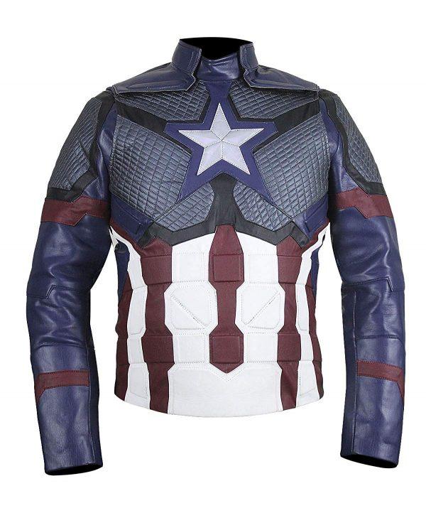 Captain America (Steve Rogers) Avengers 4 Blue Leather Jacket