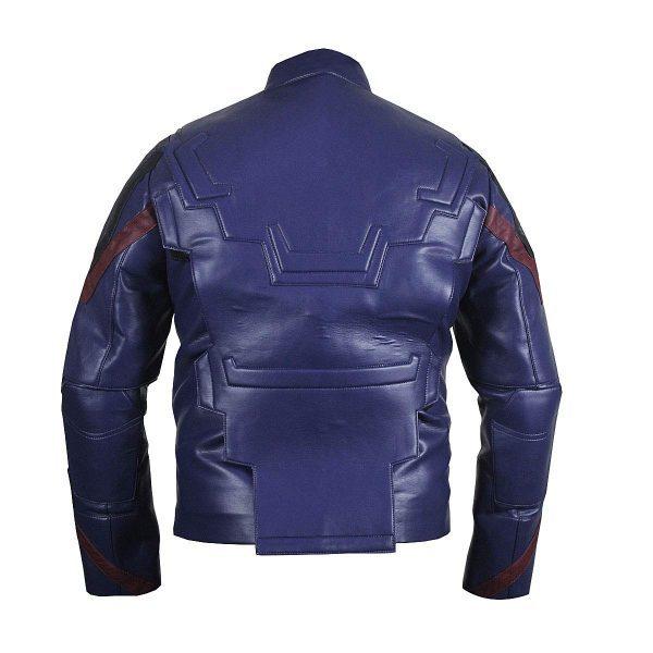 Captain America (Steve Rogers) Avengers 4 Blue Leather Jacket back side