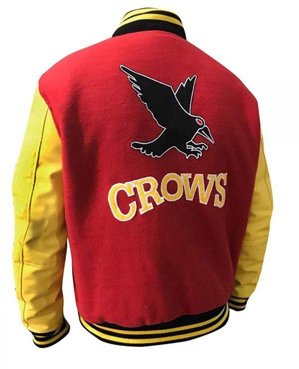 Clark Kent Crows Varsity Letterman Jacket Back Look