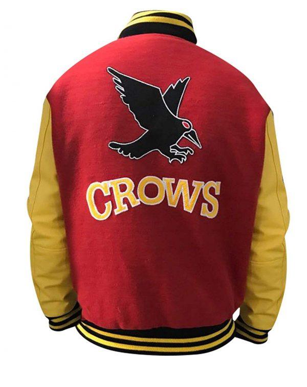 Clark Kent Crows smallville Letterman Jacket Back Side