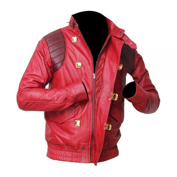 Classic Fashion Akira Kaneda Red Leather Jacket