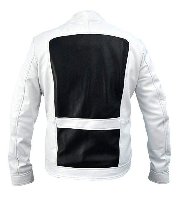Deadpool 2 Lewis Tan Shatterstar White Leather Jacket back side