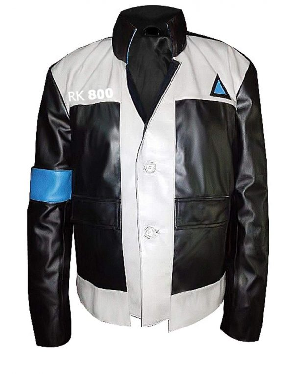 Detroit Become Human Connor Cosplay Genuine & Faux Leather Jacket