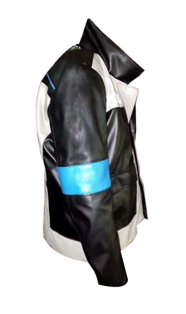 Detroit Become Human Connor Cosplay Genuine & Faux Leather Jacket side look
