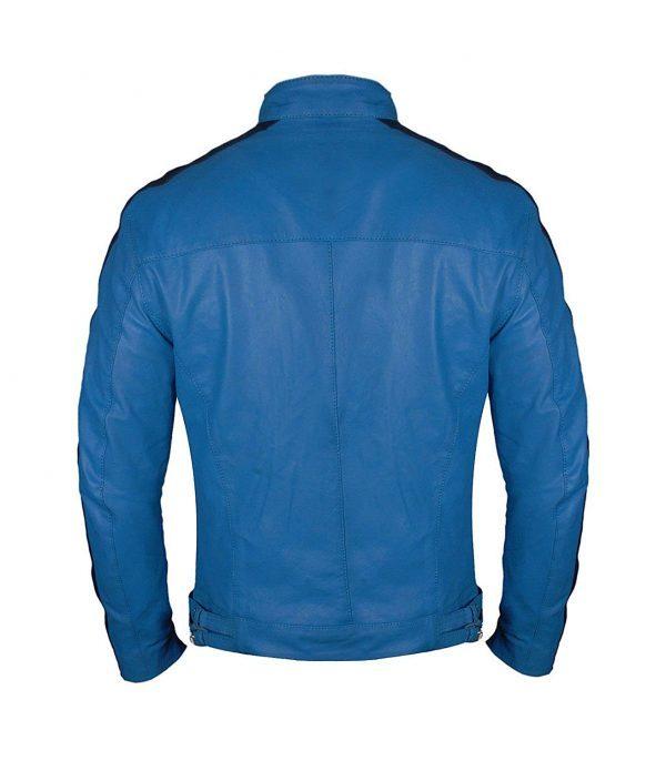Dirk Gentlys Holistic Detective Agency Samuel Barnett Leather Jacket Back Side